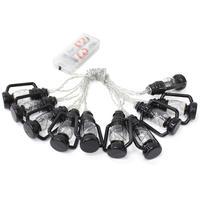 KEY STONE(キーストーン)  LEDストリングライト ランタン10P ブラック