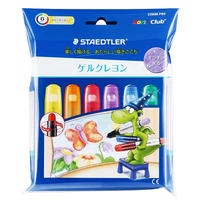 STAEDTLER ノリスクラブ ゲルクレヨン グリッターカラー 6color