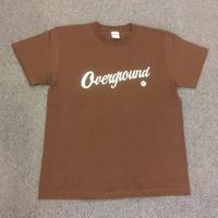 オーバーグラウンド オリジナルTシャツ ダークブラウン