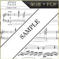 【楽譜/PDF】NAIX : プレスト