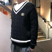 SUPREME×LACOSTE / Tennis Sweater 2017S/S size:M