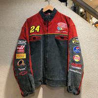 CHASE / DUPONT Nubuck Leather Racing Jacket size:XL
