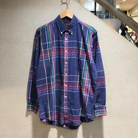 Chaps Ralph Lauren / 90s Vintage Plaid LS Shirt size:M