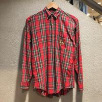 Polo Ralph Lauren / 80's Vintage Plaid B.D. LS Shirt size:L