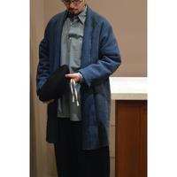ガラ紡ロングジャケット(草木染め)