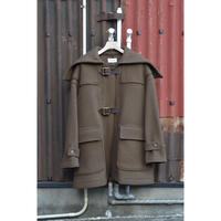 Melton Short Belted Duffle Coat  / Olive Brown