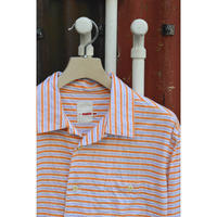 田口さんのオープンカラーシャツ /Orange border