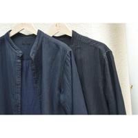 三重織綿麻シャツ