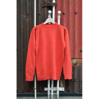 ウールセーター/赤橙