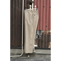 ORGANIC WOOL TROPICAL CLASSIC FIT TROUSERS / BEIGE