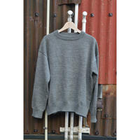 Wide Crew Jumper / Top Gray