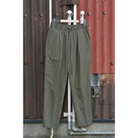 Super 120's Wool Tropical Pegtop Easy Trousers /Khaki