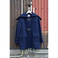 Melton Short Belted Duffle Coat  / Dark Navy