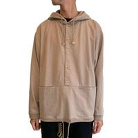Button P/O hoodie <Beige>【Crepuscule】
