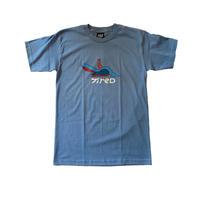 BIRD SS TEE <dusty blue>【TIRED】