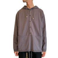 Button P/O hoodie <D,Gray> 【Crepuscule】