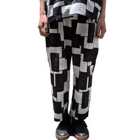 KAWARA PACHWORK PANTS (WHITE/BLACK) 【SOW ENIGM@】