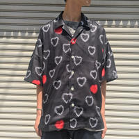 HALF SLEEVE HEART CHILL BIG SHIRT 【 CHAHCHAH 】