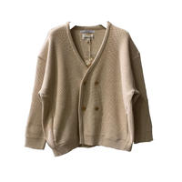 CC DOUBLE CARDIGAN <natural> 【ChahChah】