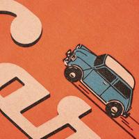 Classic Car T-shirt / Neon Orange