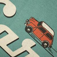 Classic Car T-shirt / Aqua