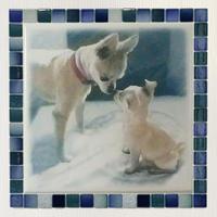 フォギーカラー/アクア(XL)◆Tile Picture Frame(XL)/Foggy Tone/AQUA◆