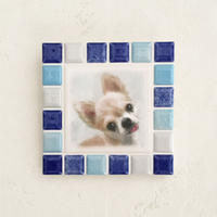 ブライトカラー/ブルー(M)◆Tile Picture Frame(M)/Bright Tone/BLUE◆