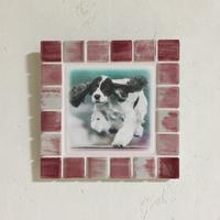 アンティークカラー/サンライズレッド(M)◆Tile Picture Frame(M)/Antique Tone/SUNRISE RED◆