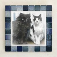 フォギーカラー/アクア(L)◆Tile Picture Frame(L)/Foggy Tone/AQUA◆