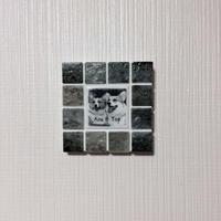 アンティークカラー/マーブルグレー(S)◆Tile Picture Frame(S)/Antique Tone/MARBLE GRAY◆