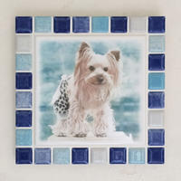 ブライトカラー/マリンブルー(L)◆Tile Picture Frame(L)/Bright Tone/MARINE BLUE◆