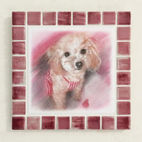 アンティークカラー/サンライズレッド(L)◆Tile Picture Frame(L)/Antique Tone/SUNRISE RED◆