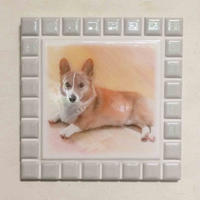 ブライトカラー/オフホワイト(L)◆Tile Picture Frame(L)/Bright Tone/OFF-WHITE◆