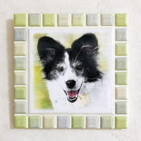 ブライトカラー/ライムイエロー(L)◆Tile Picture Frame(L)/Bright Tone/LIME YELLOW◆