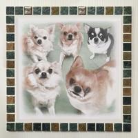 アンティークカラー/ウィザードリーフス(XL)◆Tile Picture Frame(XL)/Antique Tone/WITHERED LEAVES◆