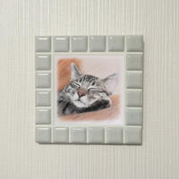ブライトカラー/オフホワイト(M)◆Tile Picture Frame(M)/Bright Tone/OFF-WHITE◆
