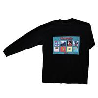 Detox long sleeve T-shirt〈Black〉