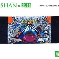 公式ステッカー付 SPASHAN NOVITECオリジナル限定デザイン タオル