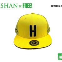 公式ステッカー付 SPASHAN × HITMAN CAP イエロー スパシャン × ヒットマンキャップのコラボ帽子