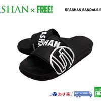 公式ステッカー付 SPASHAN サンダル 黒 S M L シャワーサンダル スパシャン