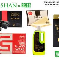 公式ステッカー付 スパシャン グラスウェア 9H & ボブ & マイクロベロア & カーシャン & メリーセーム
