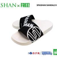 公式ステッカー付 SPASHAN サンダル 白 S M L シャワーサンダル スパシャン