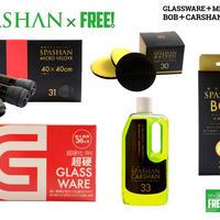 公式ステッカー付 スパシャン グラスウェア 9H & ボブ & マイクロベロア & カーシャン & マカロン