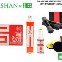 スパシャン グラスウェア & アイアンバスター3 & 水アカバスター 200ml &マイクロベロア & マカロン