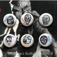 缶バッチ Classick 6 Monsters Pins【B-set】