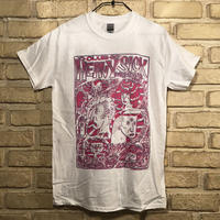 ◆2021 CLUB HEAVY SICK 2色プリント半袖Tシャツ by YASSUTAKA [ホワイト] Sサイズ◆