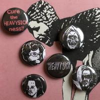 缶バッジ HEAVY SICK Pins -The Cramps version 6 pieces- [Design by NAOYA (BOBBY'S BAR)]