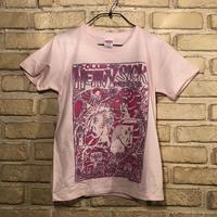 ◆2021 CLUB HEAVY SICK ガールズ・2色プリント半袖Tシャツ by YASSUTAKA [ライトピンク] Mサイズ◆