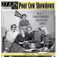 【入場TICKET】2021/6/27(日)Poor Cow Showdown