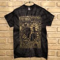 ◆2021 CLUB HEAVY SICK 半袖タイダイTシャツ by YASSUTAKA [ブラック × 金ラメ] Mサイズ◆